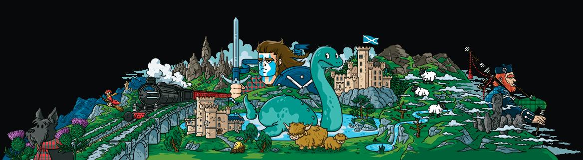 Ilustración de Escocia