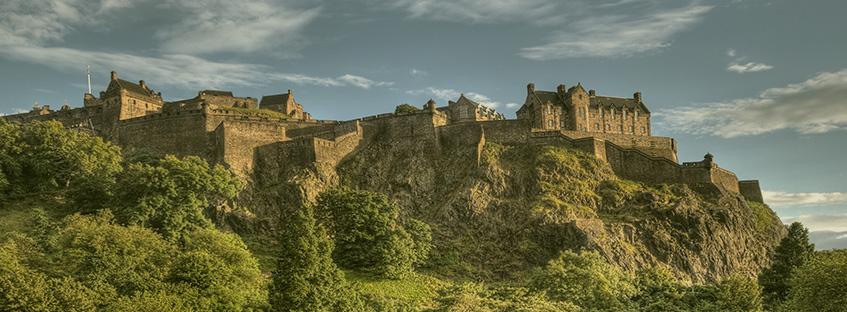 Edinburgh castle from Princes's garden