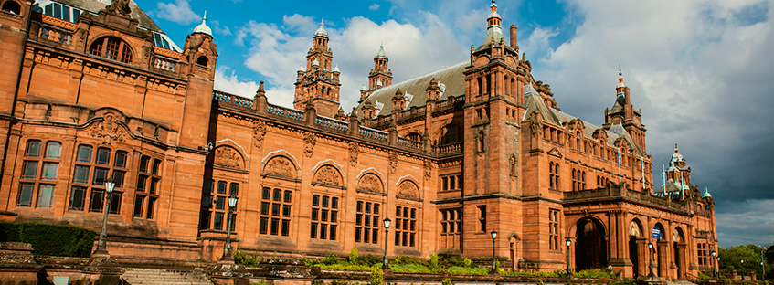 Kelvingrove museum in Glasgow city