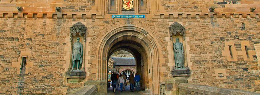 Edinburgh castle entrace