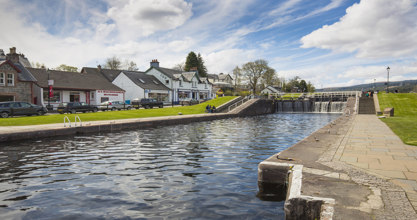 Caledonian Channel and Fort Augustus