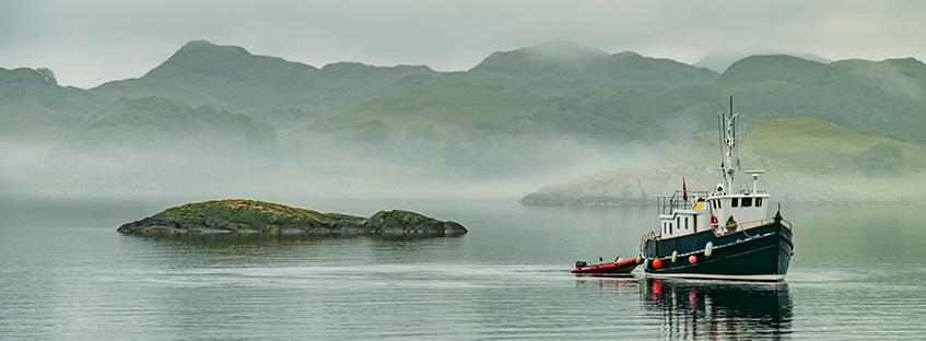 boat in loch Ness