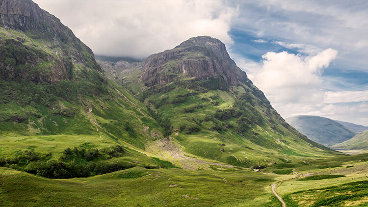 The Three Sisters in Glencoe valley