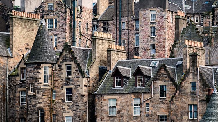Old town in Edinburgh